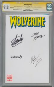 Wolverine #1 Blank Variant CGC 9.8 Signature Series Signed Stan Lee John Romita Sr Len Wein Herb Trimpe Marvel Comic book